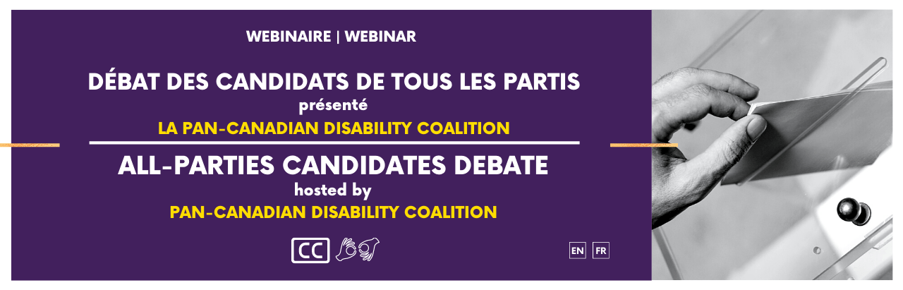 """On a purple background, it says """"Webinaire 